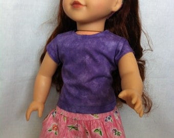American Girl Doll Clothes -Pink and Purple outfit
