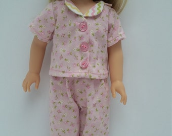 Doll clothes for Wellie Wishers- Pink Pajamas