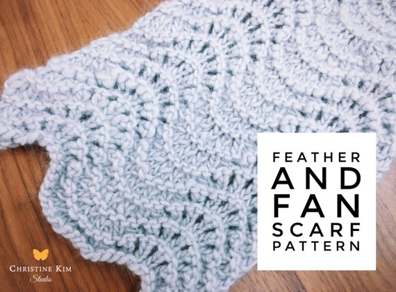 Knitting Pattern Feather Amp Fan Lace Scarf