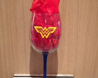 Wonder Woman Large Wine Glass