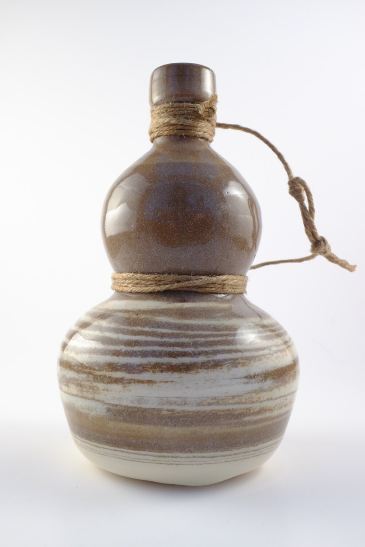 gourd bottle marbled clay canteen japanese sake calabash. Black Bedroom Furniture Sets. Home Design Ideas