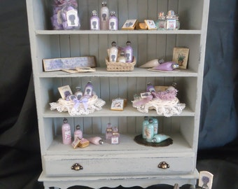 Special offer! Filled Lavender cabinet 1/12th scale