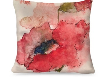 "Designer Watercolor Pillow ""Kathryn"" Home Decor"