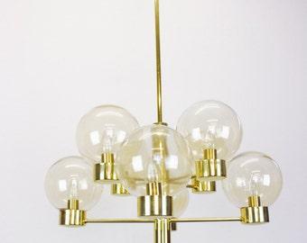 Mid Century Kaiser Sputnik Chandelier  Vintage Ceiling Lamp, Germany , 60s