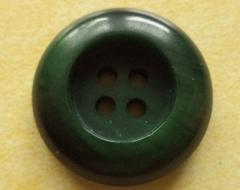 10 buttons dark green 23mm (494) button Green