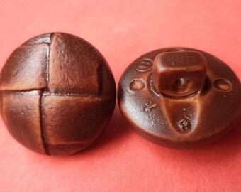 12 buttons button dark brown 15mm (136)