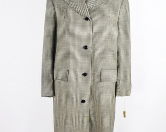 1940's Houndstooth Coat by Fairbrooke/Size Md