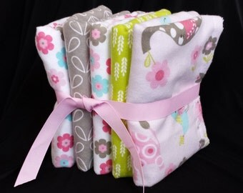 Baby Burp Cloths – Pink Animals - Set of 3 or Set of 5