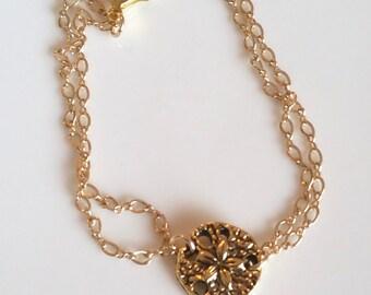 Golden Sand Dollar Bracelet