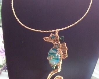 A seahorse necklace