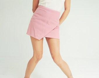 Vintage Pastel Pink Mini Skirt