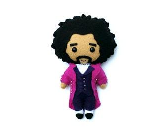 READY TO SHIP - Thomas Jefferson Hamilton Felt Plush Plushie Doll or Ornament