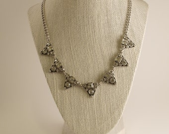 Antique silver plated chain necklace