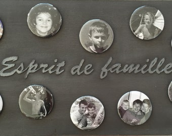 Custom magnetic plate + 10 magnets with your photos