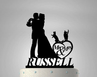 Wedding Cake Topper For Cat Lovers #11 CT-2