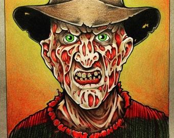 Freddy Krueger Drawing 8x10