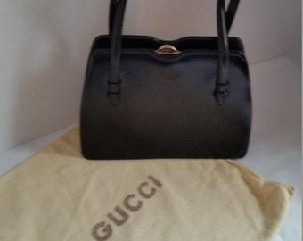 Vintage Gucci Smooth Leather Handbag Set