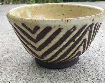 Little Brown and White Bowl