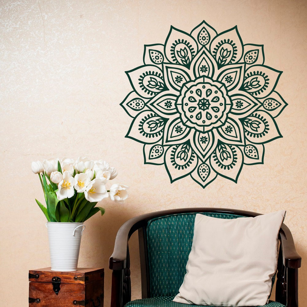 Removable Wall Decal Mandala Vinyl Mandala Wall Decal