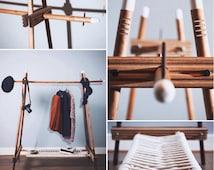 SAINT LOUPE Designer Handmade Wooden Clothes Rail/ Display Rail/ Rack/ Wardrobe