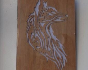 Provencal wooden frame Loup
