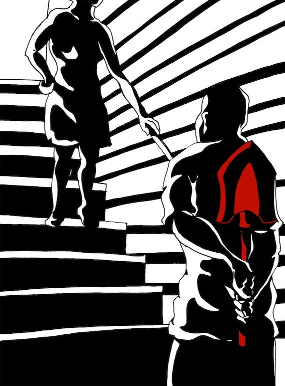 Before The Crime A Film Noir Inspired Art Print Illustration