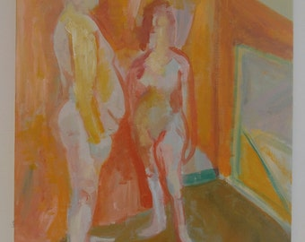 In Studio (Male and Female Figure Study)