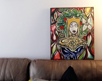Original Abstract painting- Ice queen