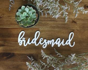 Bridesmaid Sign Wedding Bridal Shower Engagement Party