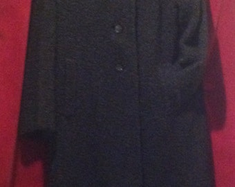 1950's Beautiful Black Persian Coat / Label - Cotsmoor made in England.