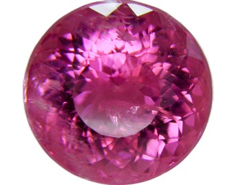 Pink Tourmaline fateted Round 13mm