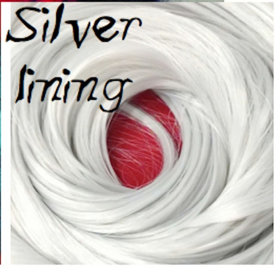 Silver Lining Bright Silver Nylon Doll Rerooting Hair Hank for Barbie, Monster High, Ever After, Sindy, Dawn, Crissy Rehair My Little Pony
