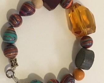 vintage inspired, eclectic bracelet
