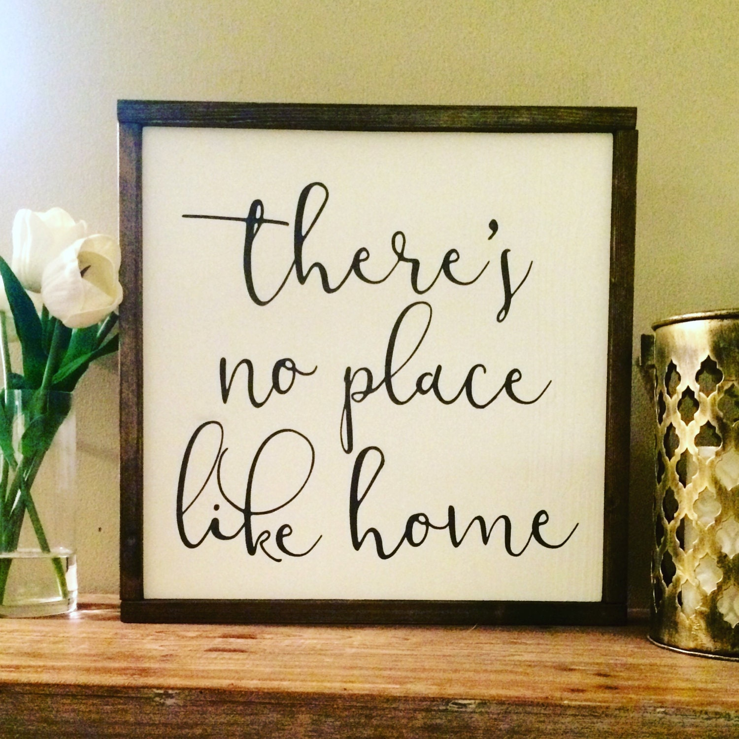 There 39 s no place like home wood sign home decor wall for Places to get home decor