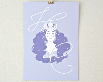 Mermaid Crown // print lavender