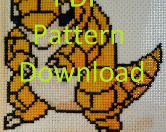 Sandshrew Cross-stitch Pattern