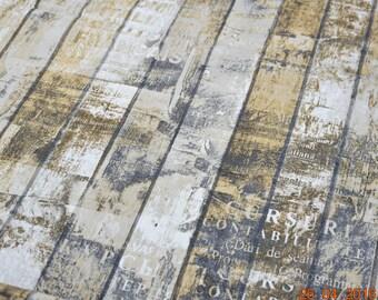 Bag fabric cotton / woven wood child