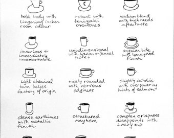 Coffee Notes:  descriptions for your coffee