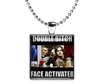 Supernatural Necklace Pendant Fandom Jewelry Sam Dean Cosplay Fangirl Fanboy