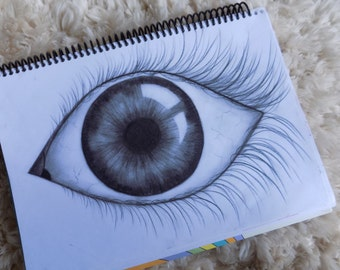 Eye Drawing Made with charcoal