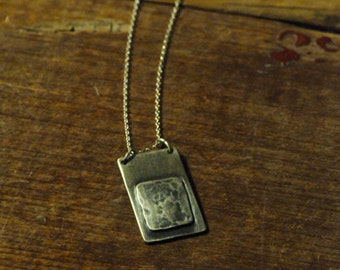 Lavendula *  Artisan Sterling Silver Necklace Rustic Oxidized Pendant
