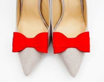 Red bows - shoe clips Manuu, shoe accessory