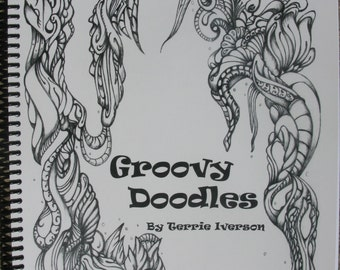 Groovy Doodles Adult Coloring Book