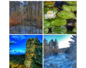 Adirondack Mountains Photography: Four Seasons Poster by Adk_Zen