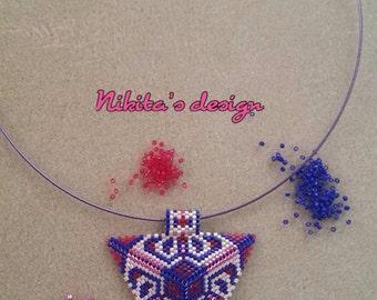 Miyuki Necklace, Handmade Necklace, Peyote Necklace