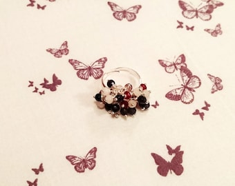 Cluster Bead Adjustable Ring