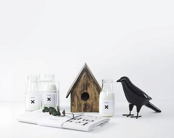 Ceramic black crow. Nordic style