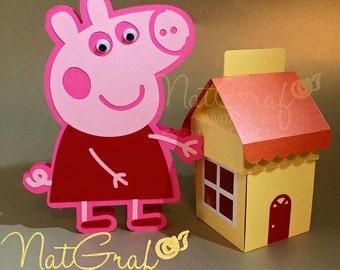 Peppa Pig Card & Exploding box house