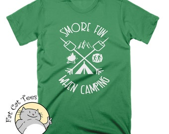 Smore Fun When Camping T Shirt Funny Camp Shirt Camp Fire Food T Shirt Gifts For Campers Camp Champ Shirt Lets Go Camping T Shirt Gifts Tees