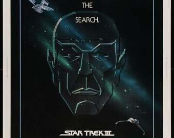 Star Trek III: The Search for Spock (1984) Vintage Movie Poster